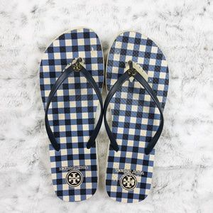 Tory Burch| Plaid Flip Flops